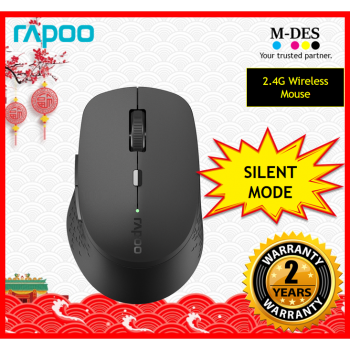 RAPOO M300 SILENT 2.4G Wireless Mouse (Black)