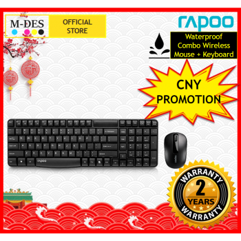 [Waterproof] RAPOO X1800S Wireless Mouse + Keyboard (Combo Set)