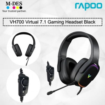 RAPOO VH700 Virtual 7.1 Channels Gaming Headset (Black)