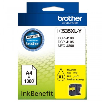 Brother LC-535XL Yellow Ink Cartridge