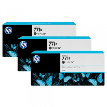 HP 771B 3-pack 775-ml Matte Black Designjet Ink Cartridges (B6Y23A)