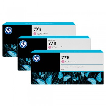 HP 771B 3-pack 775-ml Light Magenta Designjet Ink-Cartridges (B6Y27A)