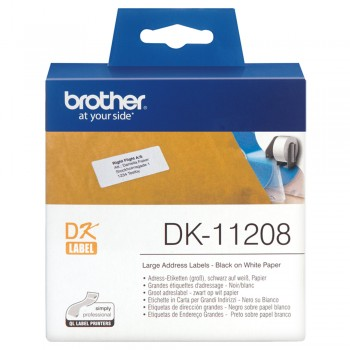 Brother DK11208 Large Address Label - 38mm x 90mm