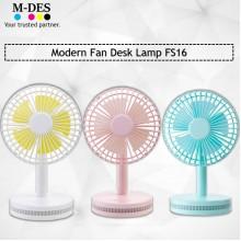 Liho Modern Fan Desk Lamp FS16 - Pink / Blue / White