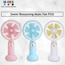 Liho Sweet Blossoming Music Fan FS32 - Blue / White / Red