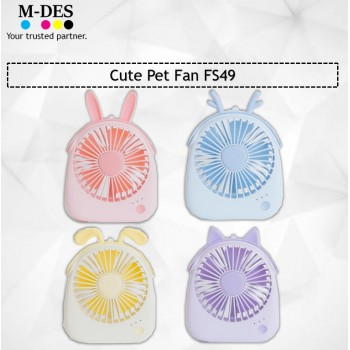 Liho Cute Pet Fan FS49 - Purple / Yellow / Blue / Pink