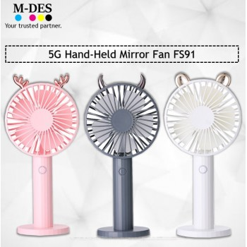 Liho 5G Hand-Held Mirror Fan FS91 - Deer / Bear / Monster