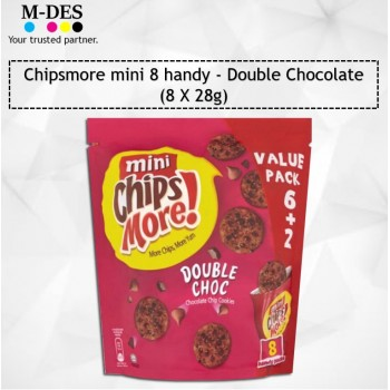Chipsmore Mini 8 Handy Value Pack /Biscuits 8X28g (Double Chocolate)
