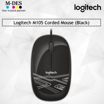 Logitech M105 Corded Mouse (Black)
