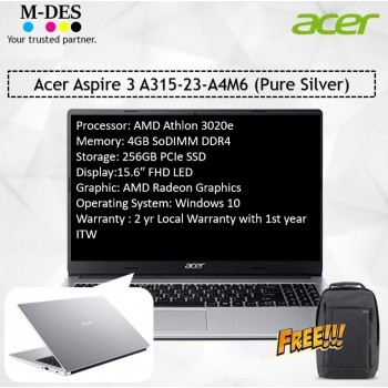 Acer Notebook Aspire 3 (A315-23-A4M6) -Pure Silver