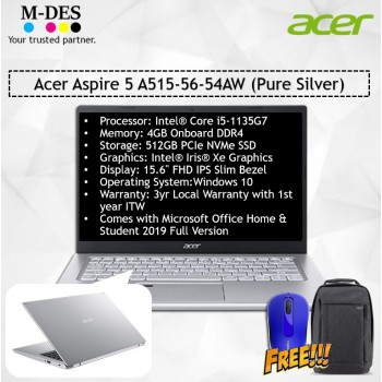 Acer Notebook Aspire 5 (A515-56-54AW) - Pure Silver