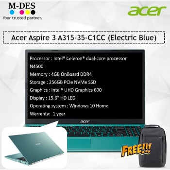 Acer Notebook Aspire 3 (A315-35-C1CC) - Electric Blue