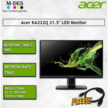 "Acer KA222Q 21.5"" LED Monitor FOC HDMI Cable"