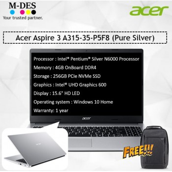 Acer Notebook Aspire 3 (A315-35-P5F8) - Pure Silver