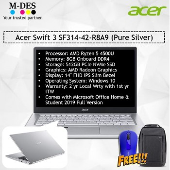 Acer Notebook Swift 3 (SF314-42-R8A9) - Pure Silver