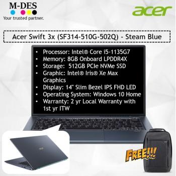 Acer Notebook Swift 3x (SF314-510G-502Q) - Steam Blue