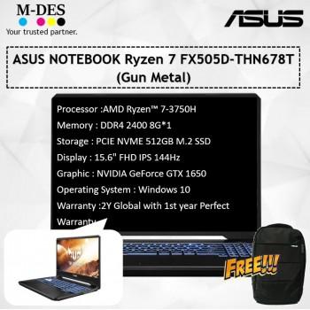 ASUS Notebook Ryzen 7 FX505D-THN678T (Gun Metal)