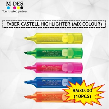 [PACKAGE] FABER CASTELL Highlighter (Mix Colour) (10pcs)