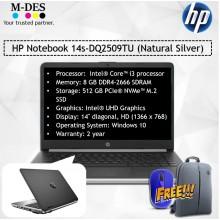 HP Notebook (14s-DQ2509TU) - Natural Silver
