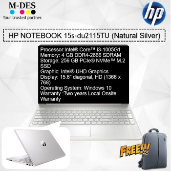 HP Notebook (15s-du2115TU) - Natural Silver