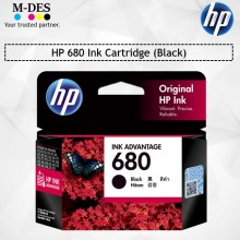 HP 680 Black Ink Cartridge (F6V27AA)