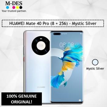 HUAWEI Mate 40 Pro Smartphone (8GB + 256GB) - Mystic Silver
