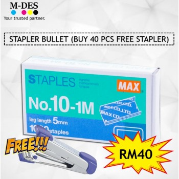 [PACKAGE] Stapler Bullet (BUY 40 PCS FREE STAPLER)