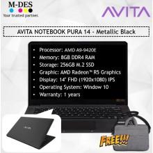 AVITA NOTEBOOK PURA 14 - Metallic Black