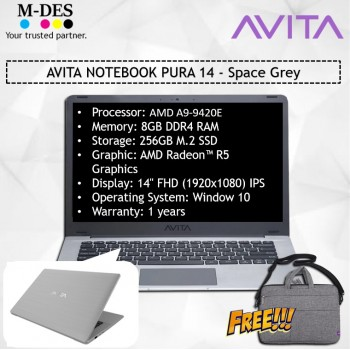 AVITA NOTEBOOK PURA 14 - Space Grey