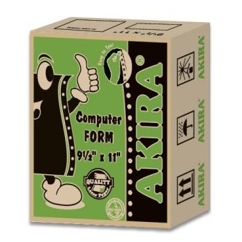 """Akira Green 1Ply 60Gsm 9.5"""" X 11""""  (1000Fans)"""