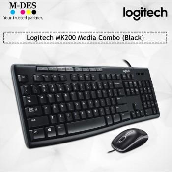 Logitech MK200 Media Combo (Black)