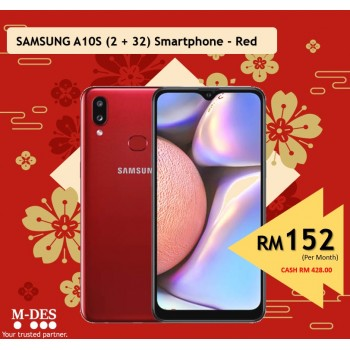 Samsung A10S (2GB + 32GB) Smartphone - Red